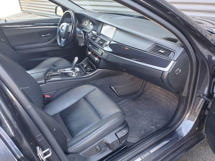 BMW Série 5 serie f10 520d 184 luxe bva i Gris Foncé Occasion - 7