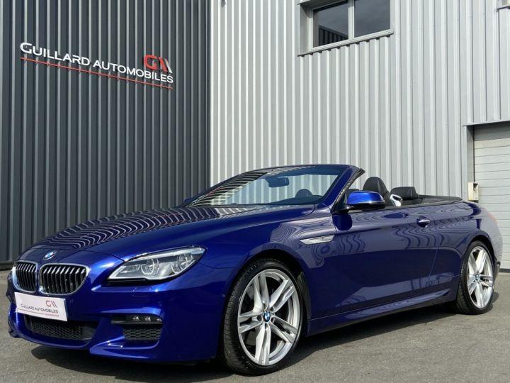 BMW Série 6 640 i CABRIOLET M-SPORT 320ch (F12) BVA8 BLEU INDIVIDUAL - 1