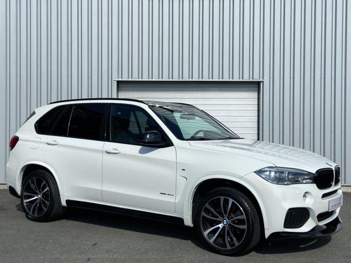 BMW X5 XDRIVE 40 D M-SPORT 313ch (F15) BVA8 7 places BLANC - 3