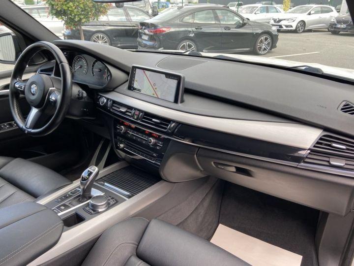 BMW X5 XDRIVE 40 D M-SPORT 313ch (F15) BVA8 7 places BLANC - 11