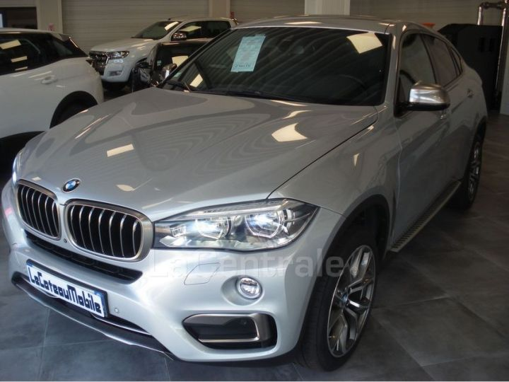 BMW X6 F16 (F16) XDRIVE40D 313 20CV EXCLUSIVE BVA8 Gris Clair Metal - 9