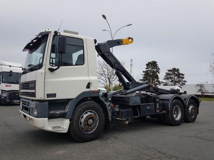 Camion porteur Daf CF Ampliroll Polybenne 85.340 6x2 GUIMA BL16 BLANC Occasion - 1