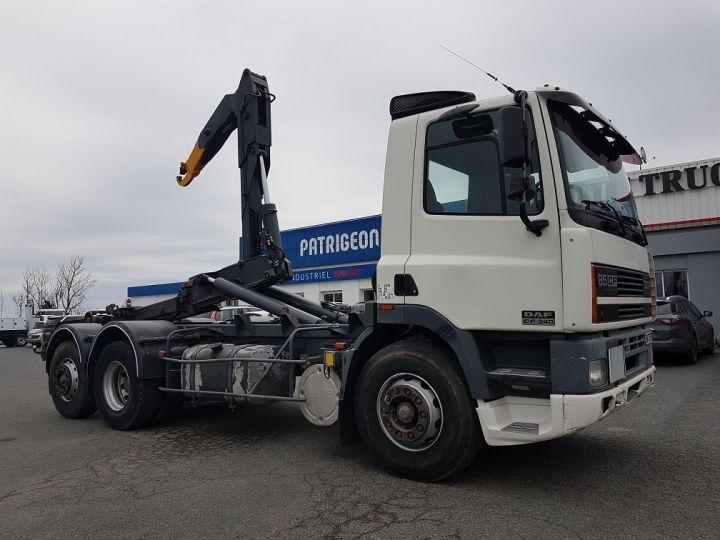 Camion porteur Daf CF Ampliroll Polybenne 85.340 6x2 GUIMA BL16 BLANC Occasion - 4