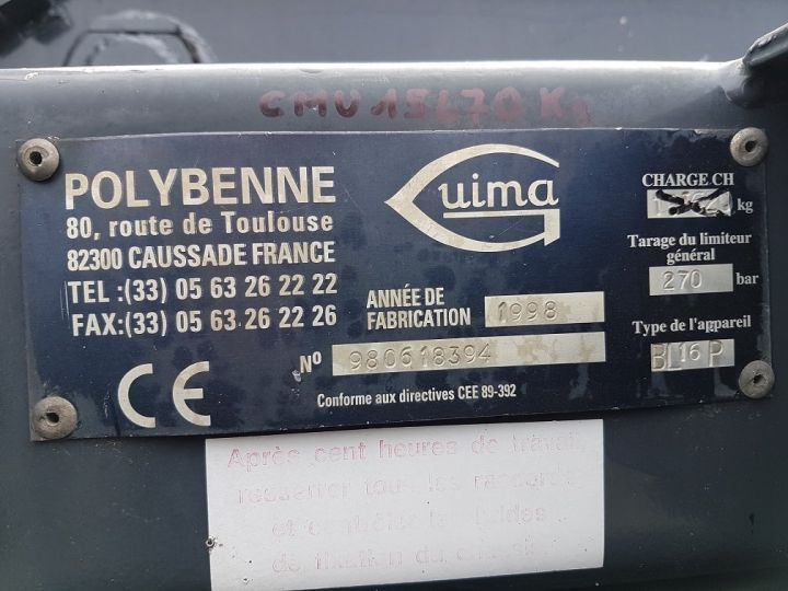 Camion porteur Daf CF Ampliroll Polybenne 85.340 6x2 GUIMA BL16 BLANC Occasion - 10