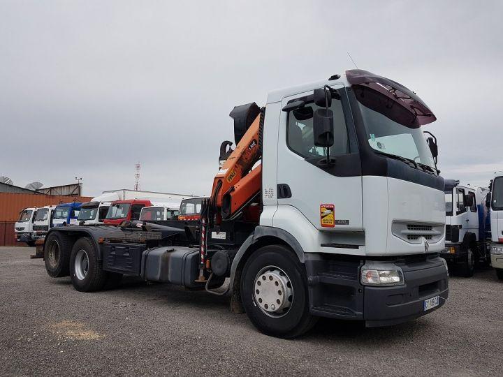 Camion porteur Renault Premium Ampliroll + grue 420dci.26 6x2 J - GUIMA S20 + PK12000 BLANC - 5