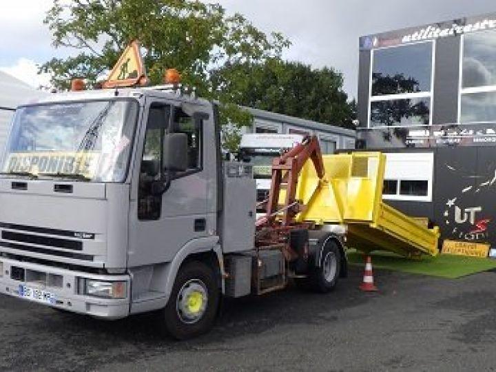 Camion porteur Iveco Ampliroll Polybenne Gris Orange - 3
