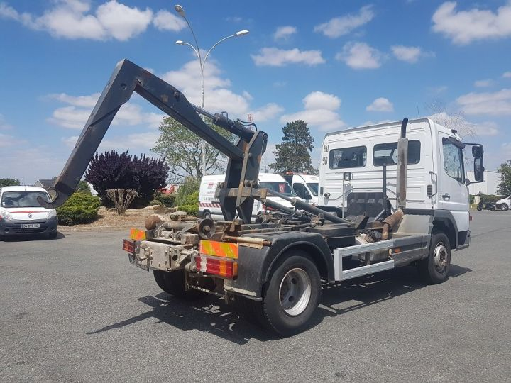 Camion porteur Mercedes Atego Ampliroll Polybenne 917 KN - GUIMA BL6 + 1 benne BLANC Occasion - 5