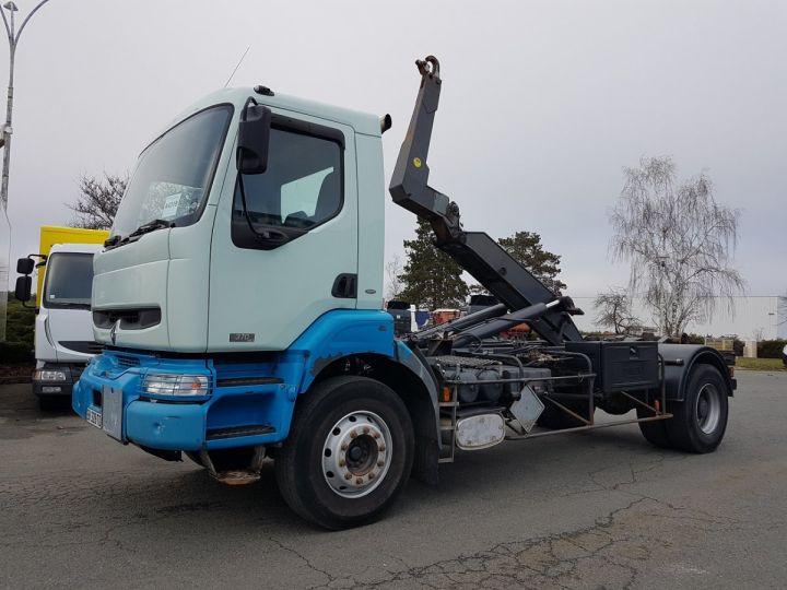 Camion porteur Renault Kerax Ampliroll Polybenne 370dci.19 potence cassée VERT - BLEU Occasion - 1