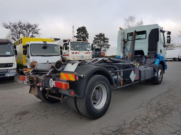 Camion porteur Renault Kerax Ampliroll Polybenne 370dci.19 potence cassée VERT - BLEU Occasion - 2