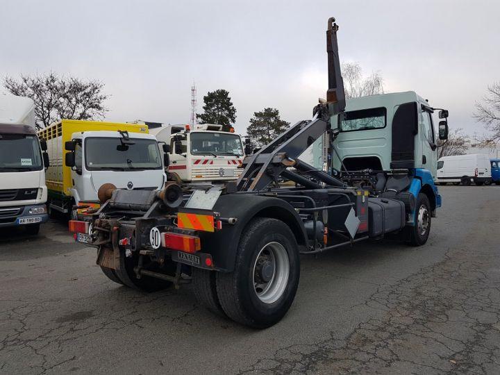 Camion porteur Renault Kerax Ampliroll Polybenne 370dci.19 potence cassée VERT - BLEU Occasion - 3