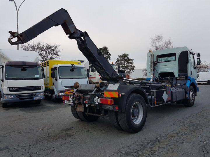 Camion porteur Renault Kerax Ampliroll Polybenne 370dci.19 potence cassée VERT - BLEU Occasion - 4