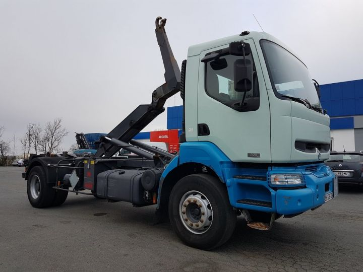 Camion porteur Renault Kerax Ampliroll Polybenne 370dci.19 potence cassée VERT - BLEU Occasion - 6