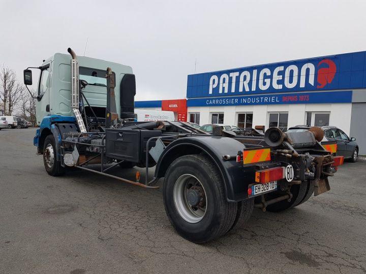 Camion porteur Renault Kerax Ampliroll Polybenne 370dci.19 potence cassée VERT - BLEU Occasion - 7