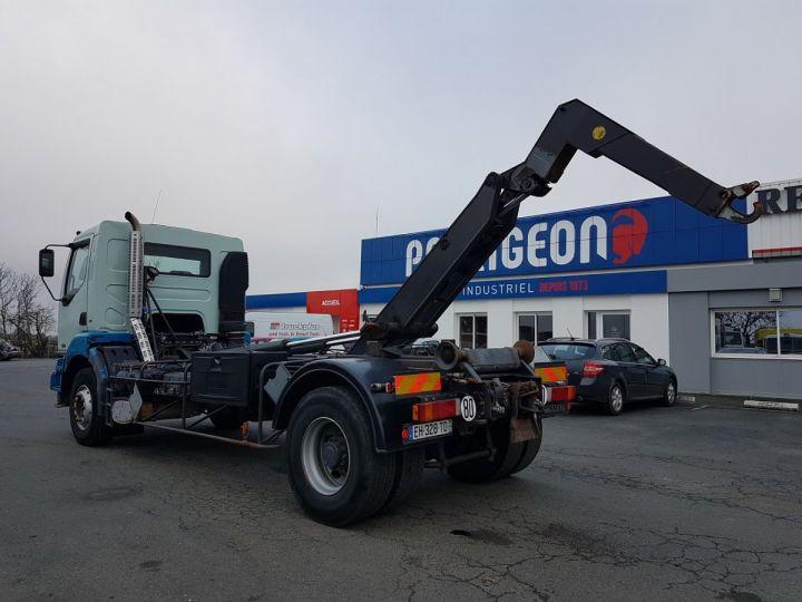 Camion porteur Renault Kerax Ampliroll Polybenne 370dci.19 potence cassée VERT - BLEU Occasion - 8