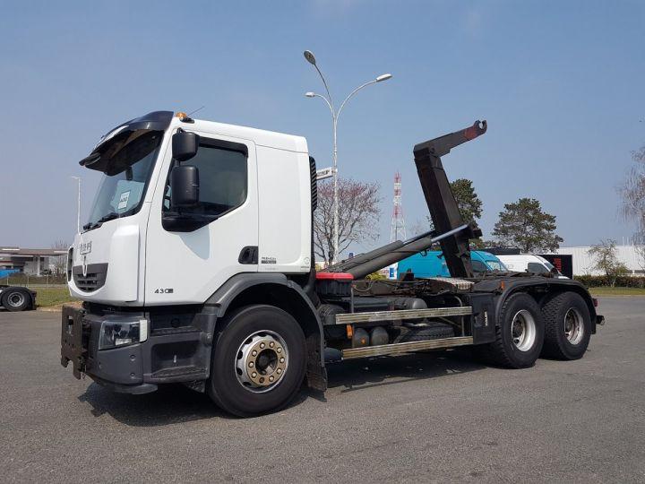 Camion porteur Renault Premium Lander Ampliroll Polybenne 430dxi.26 6x4 BLANC Occasion - 1