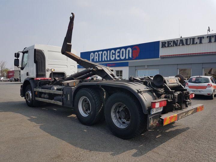 Camion porteur Renault Premium Lander Ampliroll Polybenne 430dxi.26 6x4 BLANC Occasion - 6