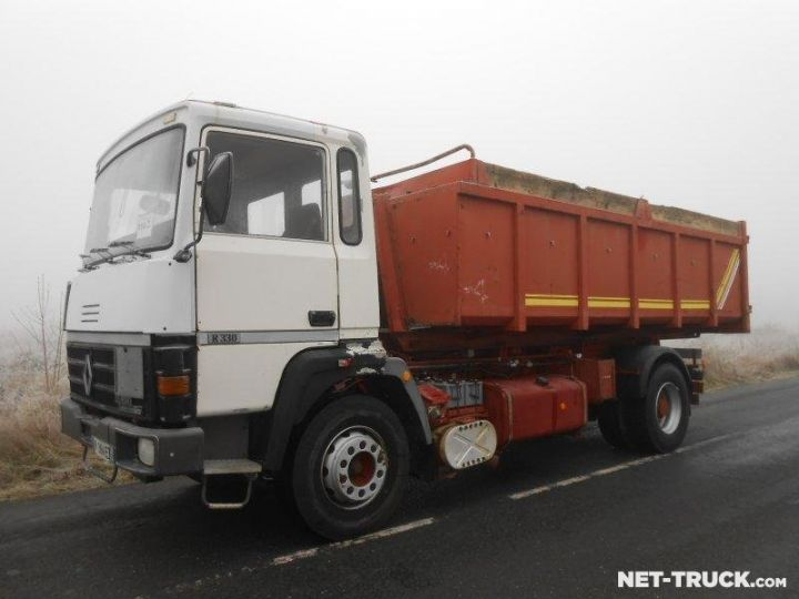 Camion porteur Renault Major Ampliroll Polybenne R330.19 BLANC et ROUGE Occasion - 1