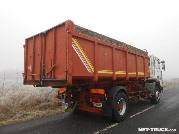 Camion porteur Renault Major Ampliroll Polybenne R330.19 BLANC et ROUGE Occasion - 2
