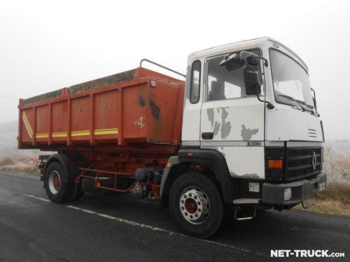 Camion porteur Renault Major Ampliroll Polybenne R330.19 BLANC et ROUGE - 5