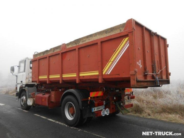 Camion porteur Renault Major Ampliroll Polybenne R330.19 BLANC et ROUGE - 6
