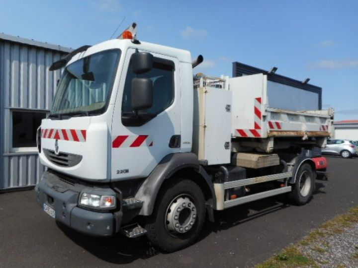 Camion porteur Renault Midlum Ampliroll Polybenne 220.13  Occasion - 1