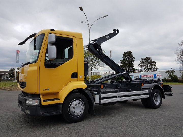 Camion porteur Renault Midlum Ampliroll Polybenne 220dxi.12 MULTILIFT JAUNE Occasion - 1