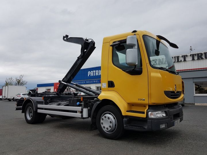 Camion porteur Renault Midlum Ampliroll Polybenne 220dxi.12 MULTILIFT JAUNE Occasion - 4