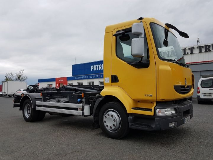 Camion porteur Renault Midlum Ampliroll Polybenne 220dxi.12 MULTILIFT JAUNE Occasion - 5