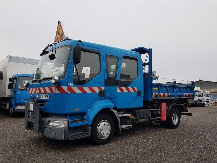 Camion porteur Renault Midlum Benne Double Cabine 220dci.12 TRI-BENNE / 7 PLACES BLEU Occasion - 1