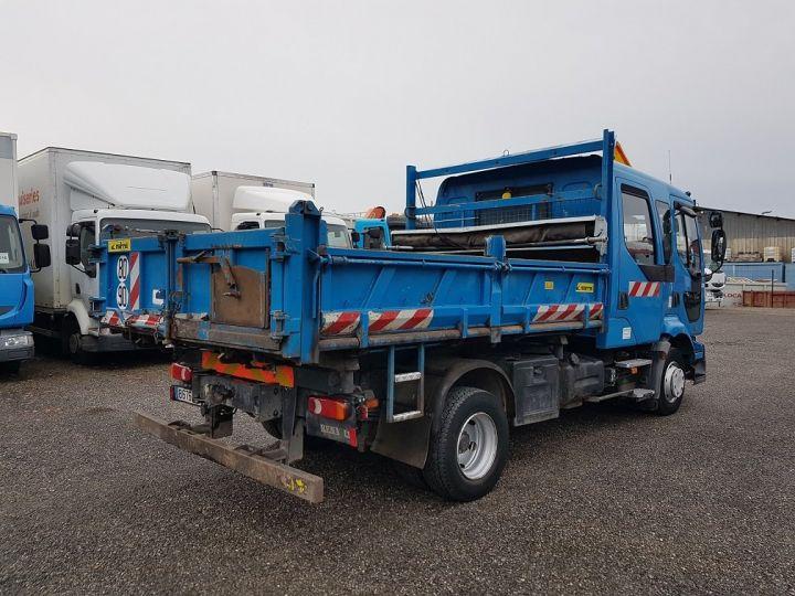 Camion porteur Renault Midlum Benne Double Cabine 220dci.12 TRI-BENNE / 7 PLACES BLEU Occasion - 2
