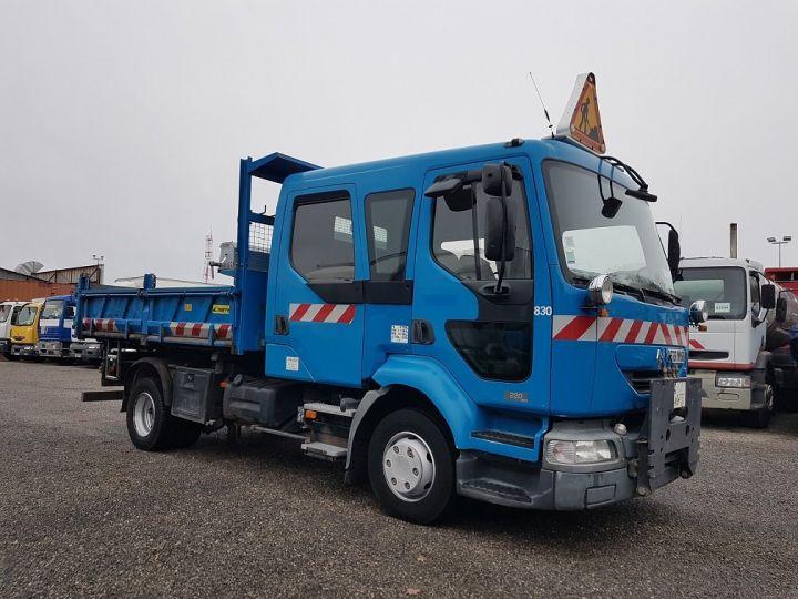 Camion porteur Renault Midlum Benne Double Cabine 220dci.12 TRI-BENNE / 7 PLACES BLEU Occasion - 4