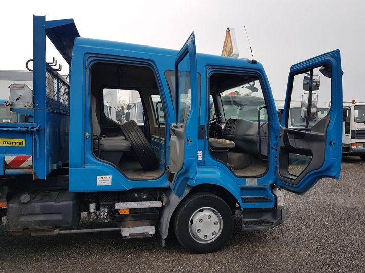 Camion porteur Renault Midlum Benne Double Cabine 220dci.12 TRI-BENNE / 7 PLACES BLEU Occasion - 17