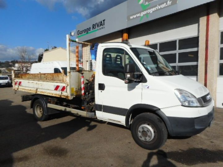 Camion porteur Iveco Daily Benne + grue 65C15 BENNE + GRUE  Occasion - 1