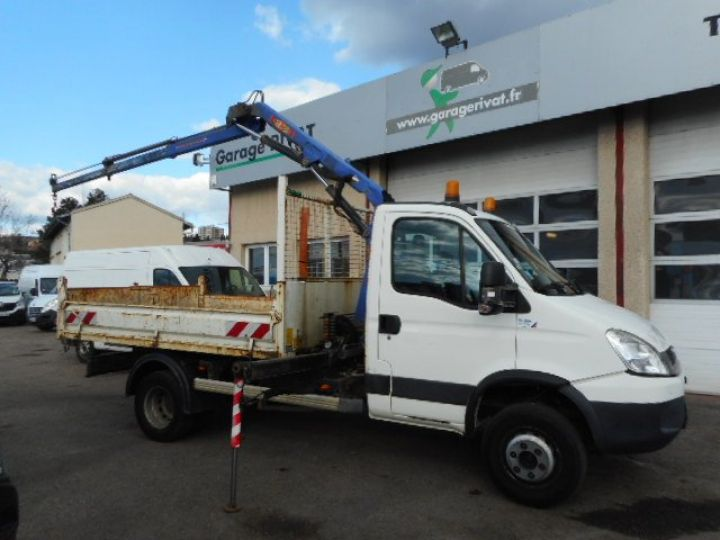 Camion porteur Iveco Daily Benne + grue 65C15 BENNE + GRUE  Occasion - 4