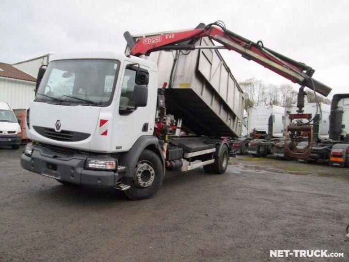 Camion porteur Renault Midlum Benne + grue  - 1
