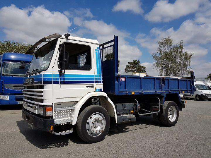 Camion porteur Scania P Benne arrière 93 M 210 BLANC - BLEU Occasion - 1