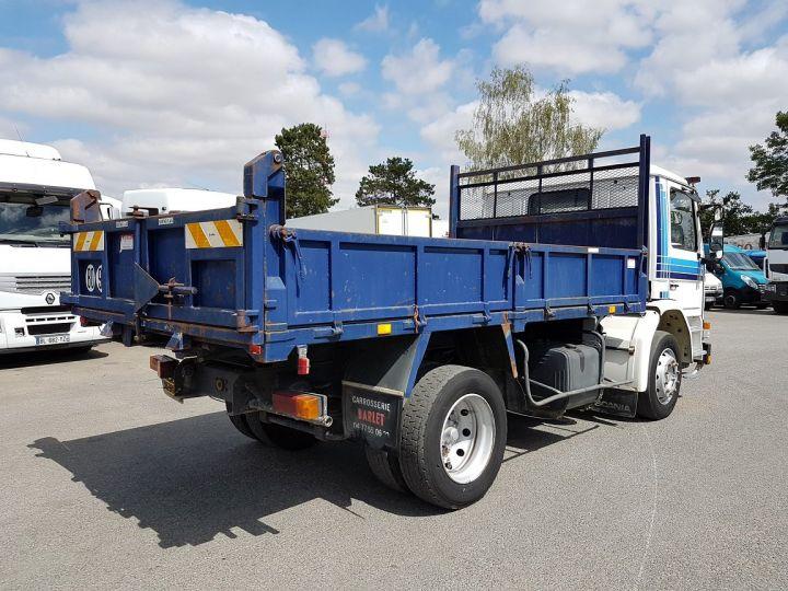 Camion porteur Scania P Benne arrière 93 M 210 BLANC - BLEU Occasion - 4