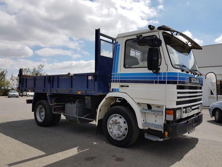 Camion porteur Scania P Benne arrière 93 M 210 BLANC - BLEU Occasion - 5
