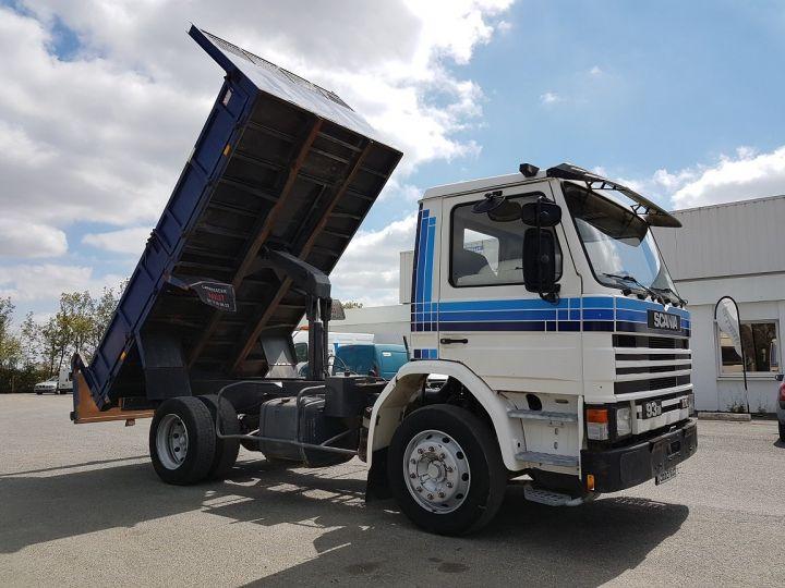 Camion porteur Scania P Benne arrière 93 M 210 BLANC - BLEU Occasion - 6