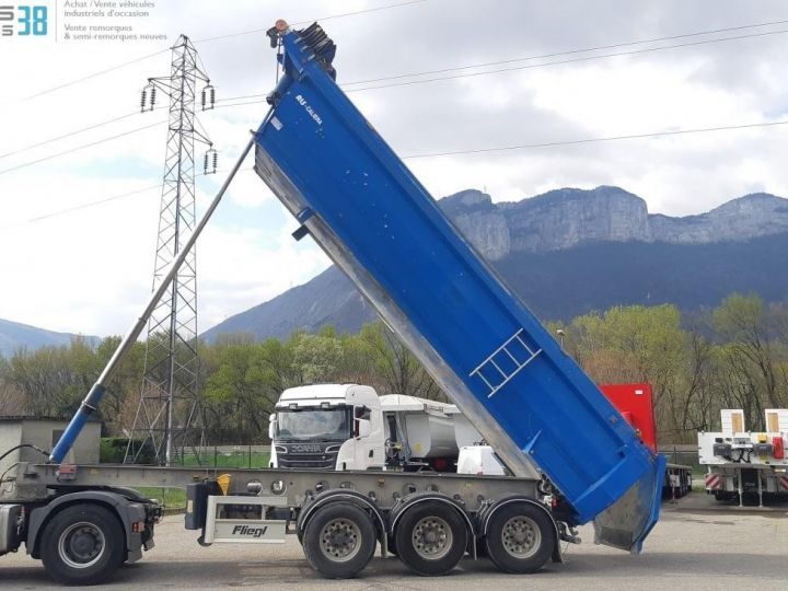 Camion porteur Benne arrière SEMI-REMORQUE BENNE ALU 3 ESSIEUX  - 5