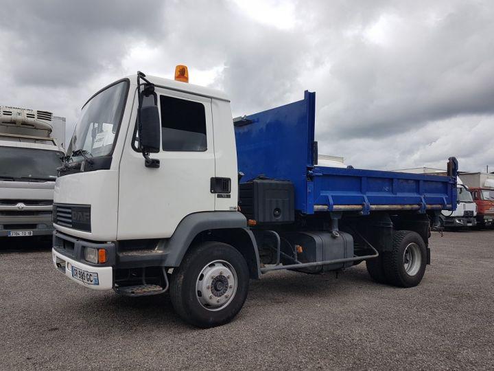 Camion porteur Daf FA55 Bibenne / Tribenne 15.210 ATI BLANC - BLEU Occasion - 1