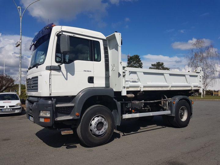Camion porteur Man FE Bibenne / Tribenne 310 A BLANC Occasion - 1