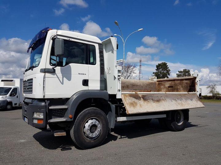 Camion porteur Man FE Bibenne / Tribenne 310 A BLANC Occasion - 2