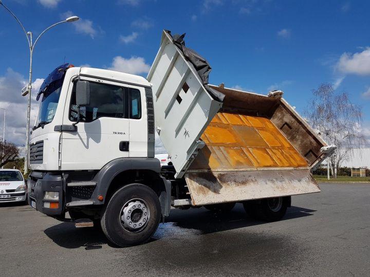 Camion porteur Man FE Bibenne / Tribenne 310 A BLANC Occasion - 3
