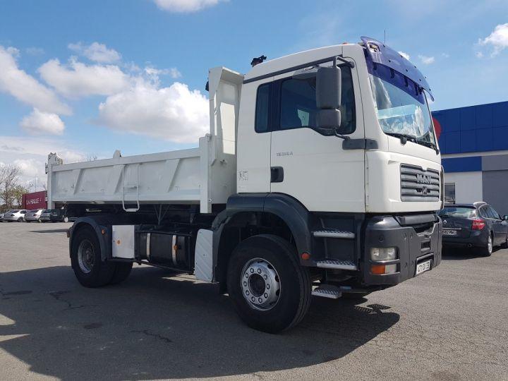 Camion porteur Man FE Bibenne / Tribenne 310 A BLANC Occasion - 7