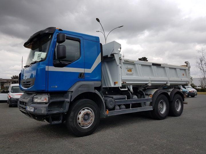 Camion porteur Renault Kerax Bibenne / Tribenne 430dxi.26 6x4 BLEU BLANC - 1