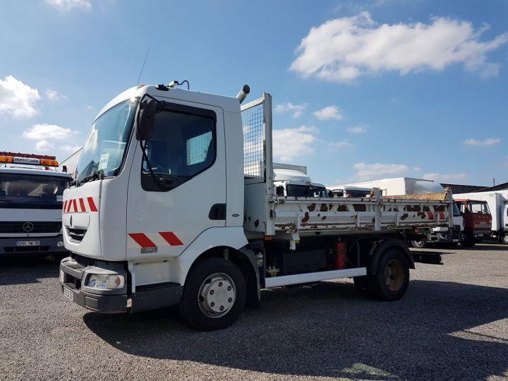 Camion porteur Renault Midlum Bibenne / Tribenne 180dci.08 BLANC - 1
