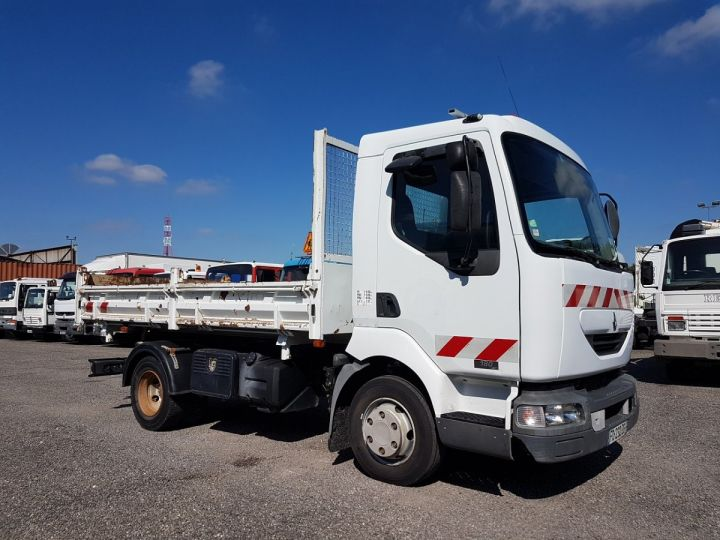 Camion porteur Renault Midlum Bibenne / Tribenne 180dci.08 BLANC - 5