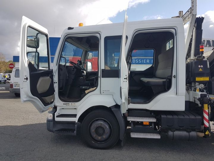 Camion porteur Renault Midlum Bibenne / Tribenne 220dxi.12 DOUBLE CABINE BLANC Occasion - 10