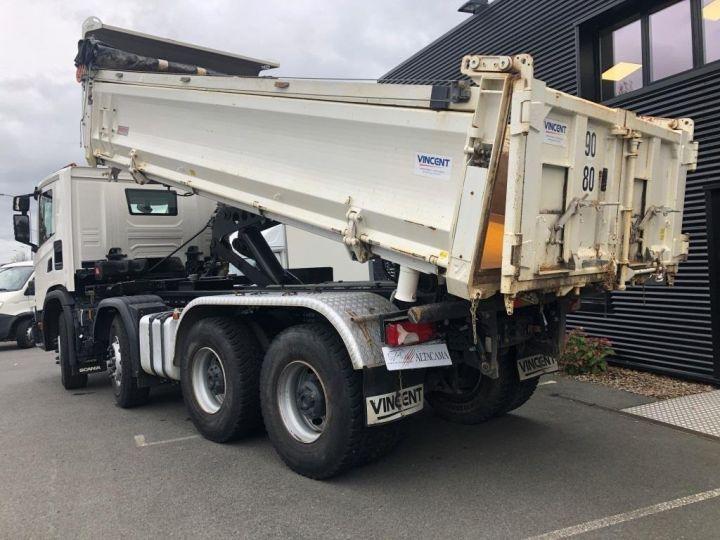 Camion porteur Scania Bibenne / Tribenne 410 8X4 BI BENNE BLANC - 3